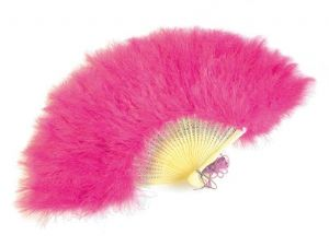 Hot Pink Feather Fan, burlesque fan, burlesque feather fan